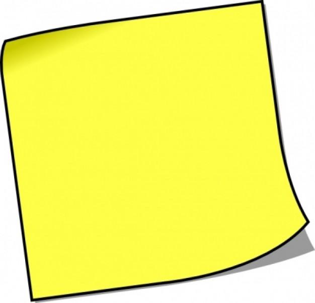 626x603 Blank Sticky Note Clip Art Clipart Panda