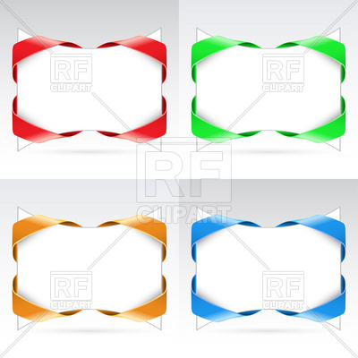 400x400 Blank Corner Ribbons Royalty Free Vector Clip Art Image
