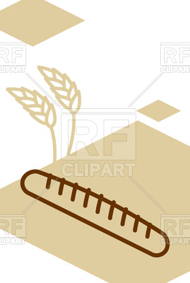269x400 Bakery Blank Poster Design Template Royalty Free Vector Clip Art
