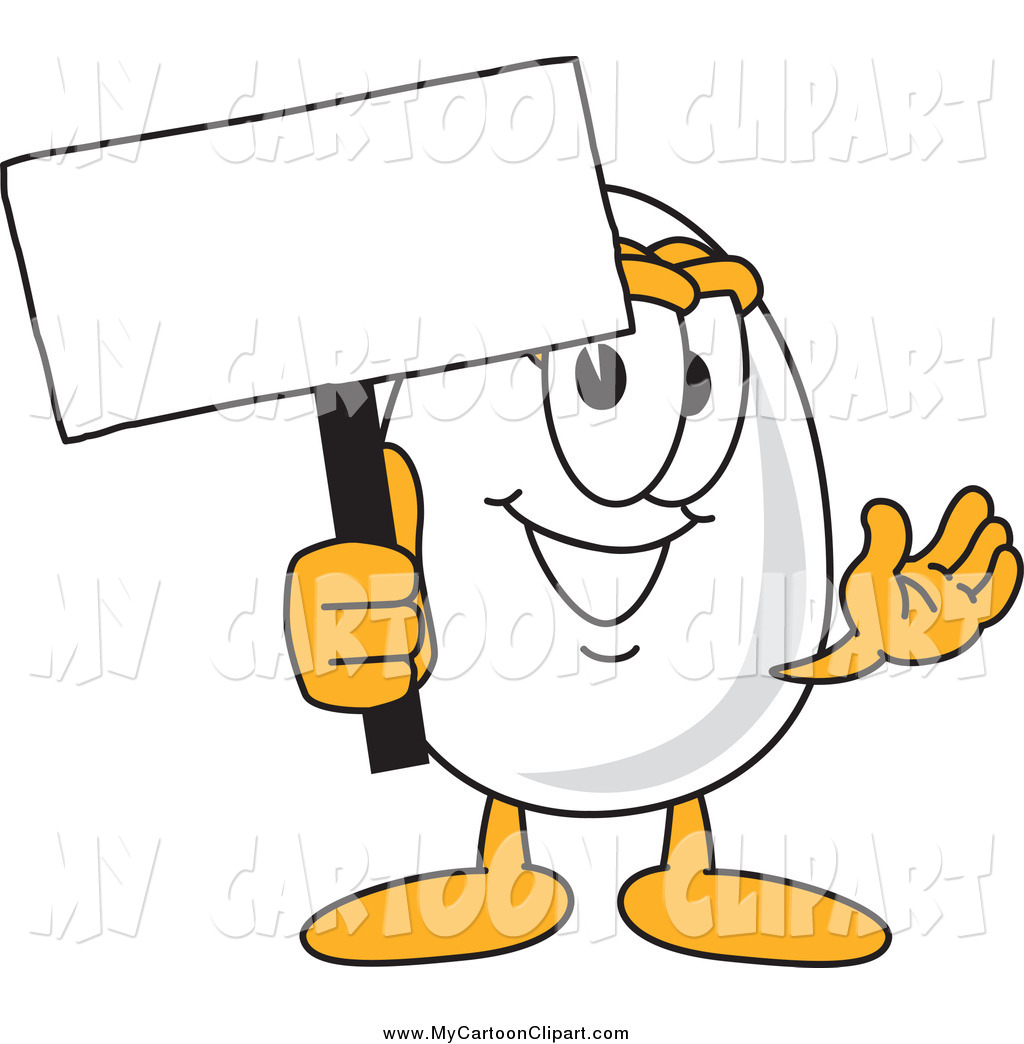 1024x1044 Clip Art Of A Happy Egg Character Holding A Blank Sign By
