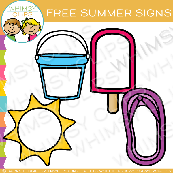 600x600 Free Blank Summer Signs Clip Art , Images Amp Illustrations Whimsy