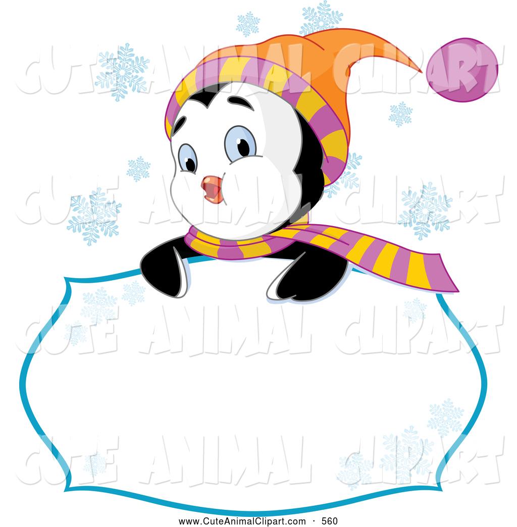 1024x1044 Vector Cliprt Of Friendly Cute Winter Penguin Looking Over