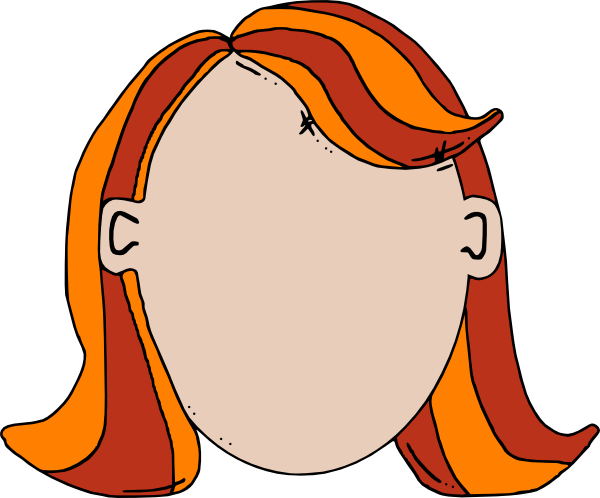 600x498 Blank Face Teen Girl Cartoon Clip Art
