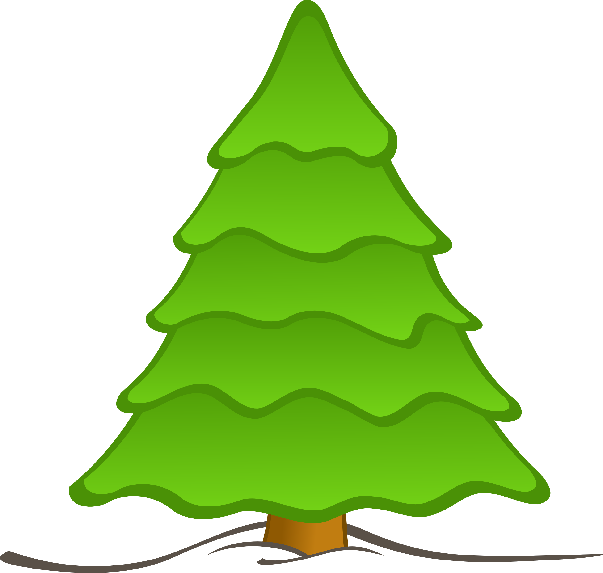 2555x2428 Collection Of Blank Christmas Tree Clipart High Quality