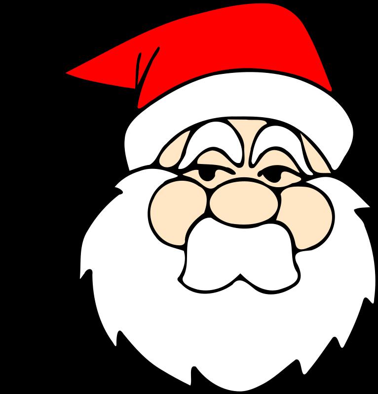 766x800 Santa Face Clip Art