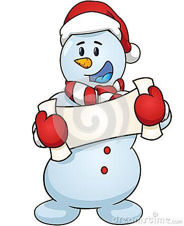 Blank Snowman Clipart