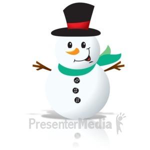 300x300 Winter Snowman Holding Blank Sign