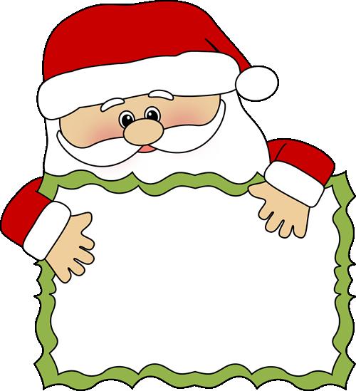 500x549 Santa Clip Art Santa Sign Clip Art