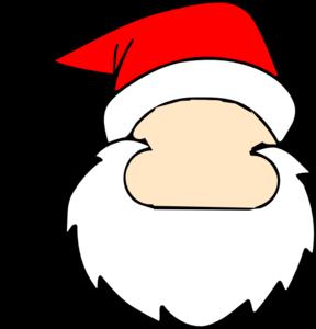 288x300 Blank Santa Face Clip Art