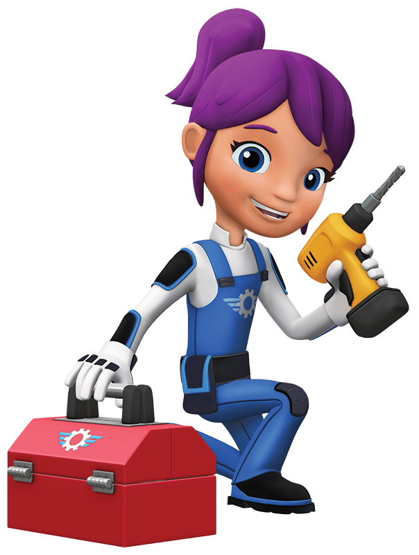 604x800 Blaze And The Monster Machines Gabby With Toolbox Transparent Png