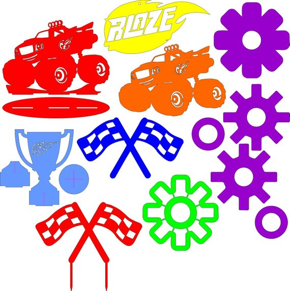 570x571 Blaze And The Monster Machines Clipart, Emblems, Icons, Stands