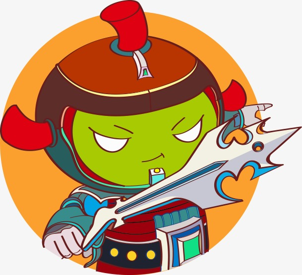 609x555 Little Monster, Color, Sword, Fighting Png Image And Clipart
