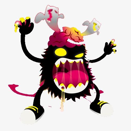 500x500 Monster Mouth, Us Man, American Comics, Graffiti Png Image