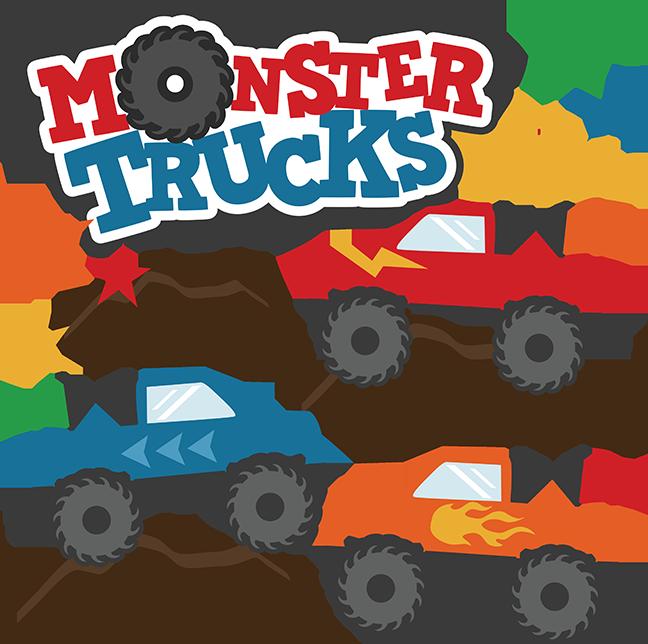 648x644 Monster Trucks Svg Scrapbook Collections Monster Trucks Cut Files