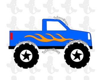 340x270 Monster Truck Svg Etsy