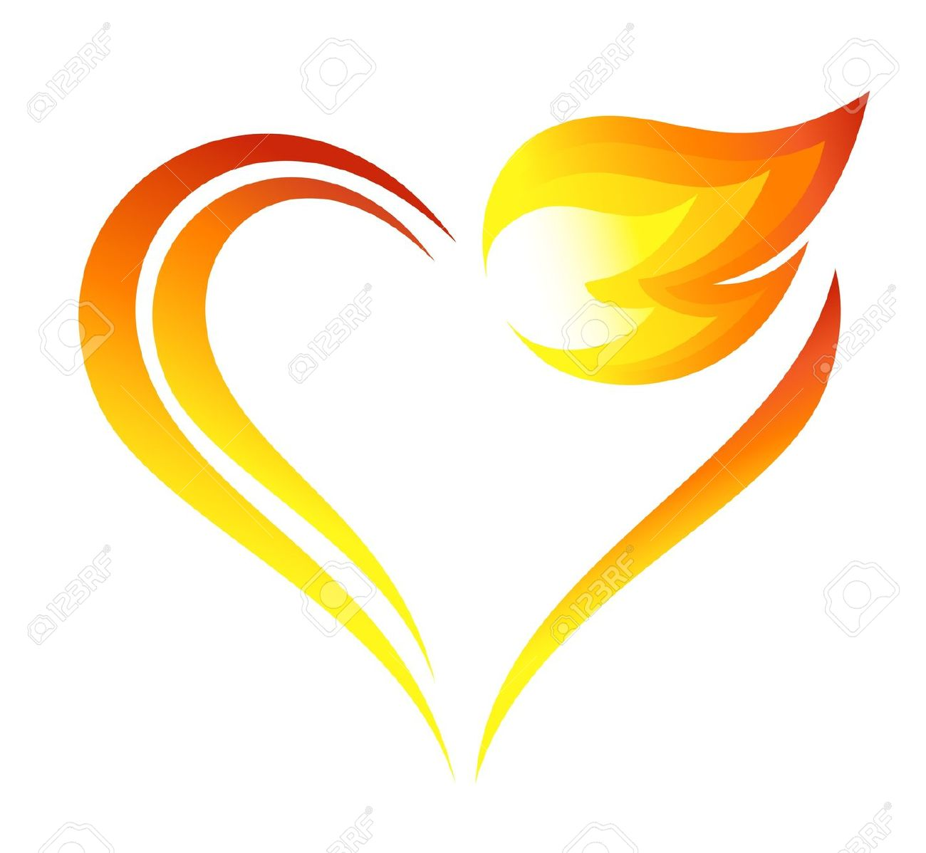 1300x1198 Clipart Flaming Heart Clip Art Library