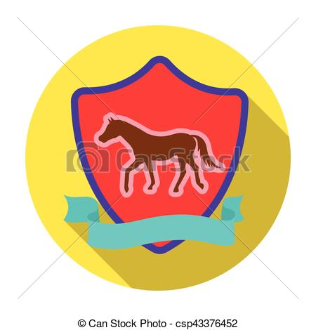 450x470 Equestrian Blaze Icon In Flat Style Isolated On White Clipart