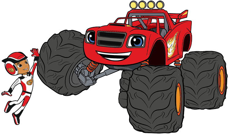 749x441 Monster Truck Cartoons Blaze