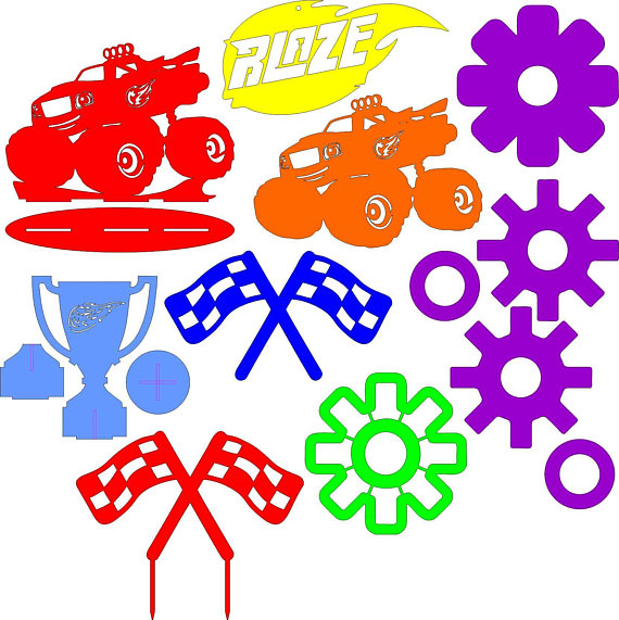 570x571 Blaze And The Monster Machines Clipart Emblems Icons