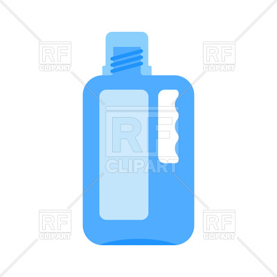 400x400 Bottle Of Bleach Isolated On White Background Royalty Free Vector