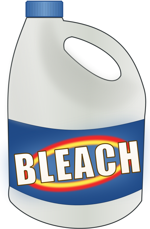 523x800 Free Clipart Bleach Bottle Cwt