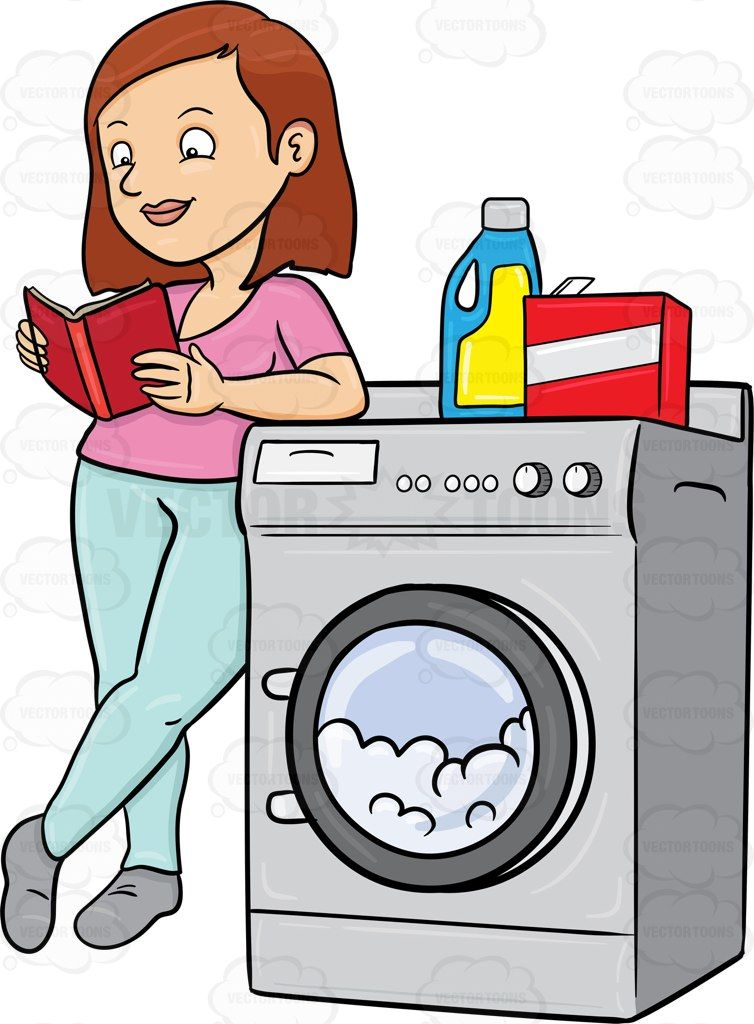 754x1024 A Woman Kills Time By Reading A Book While Waiting For Her Laundry