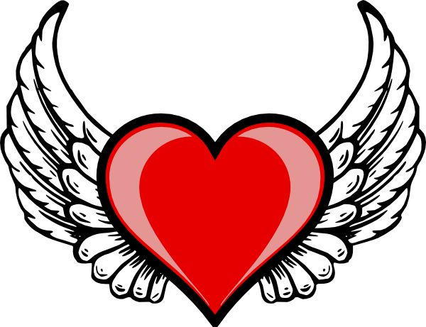 600x461 Wings Clipart Winged Heart