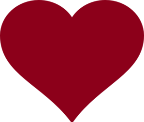 298x252 Collection Of Maroon Heart Clipart High Quality, Free