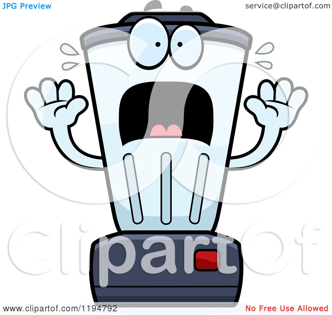 1080x1024 Cartoon Of A Scared Blender Mascot
