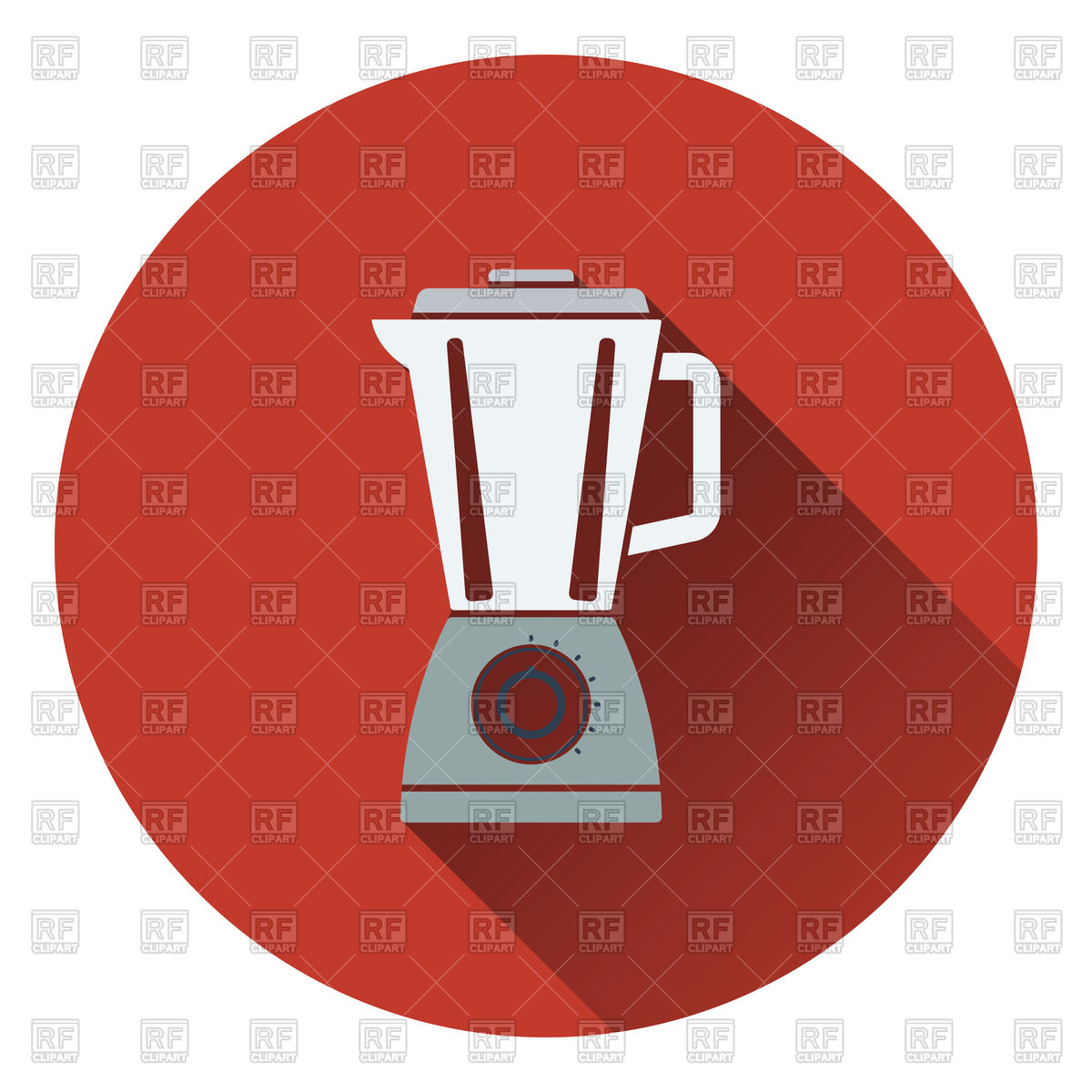 1200x1200 Flat Design Of Kitchen Blender Icon Royalty Free Vector Clip Art