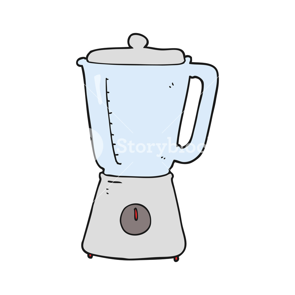 1000x1000 Freehand Drawn Cartoon Blender Royalty Free Stock Image
