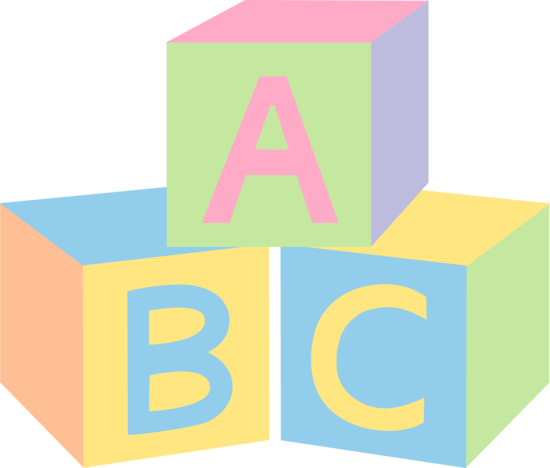 550x468 Abc Blocks Clip Art