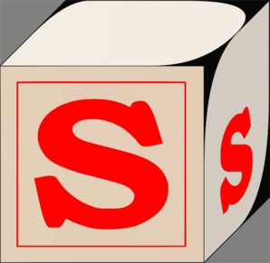 298x291 Letter S Block Red Clip Art