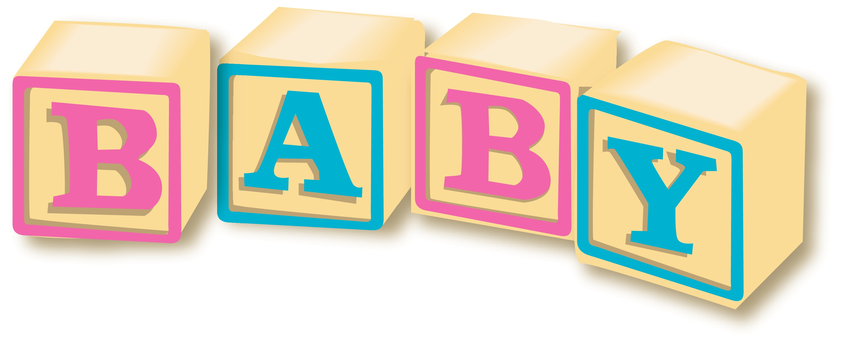 3300x1346 Baby Blocks Alphabet Clipart