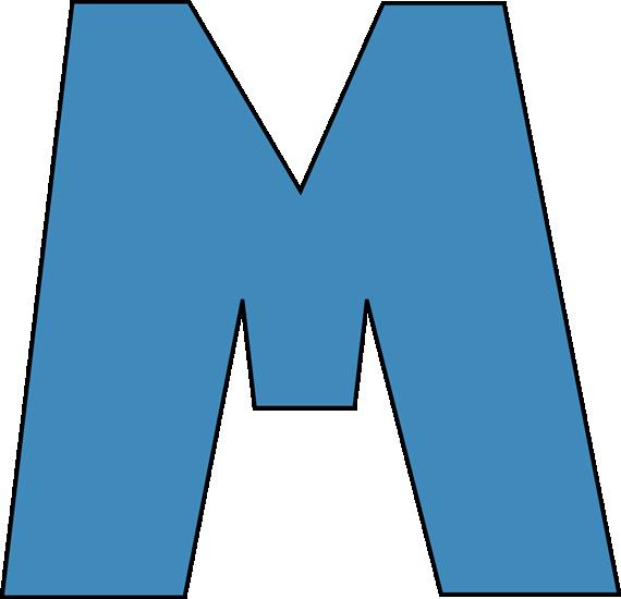 570x550 Blue Letter M Blue Alphabet Letter M Clip Art Blue Alphabet Letter