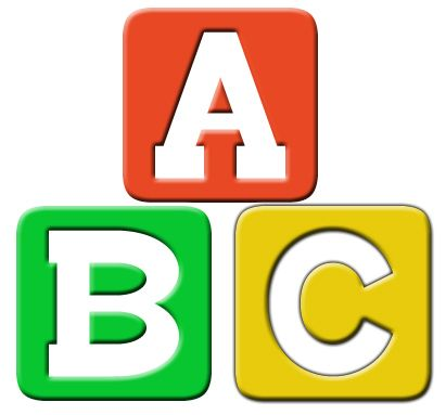 411x383 Simple Block Letter Clipart