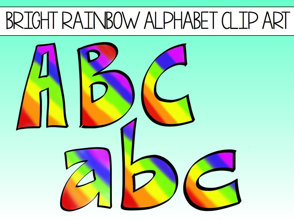 1024x768 Alphabet Block Letters Clip Art Rainbows Welcome Back