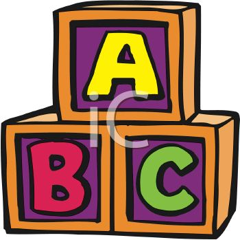350x349 Child's Alphabet Blocks