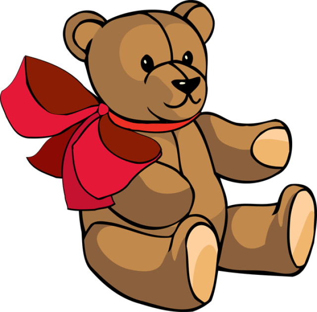 640x630 Graphic Design Clip Art, Wooden Blocks And Teddy Bear
