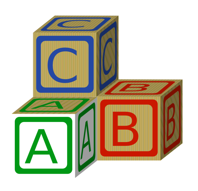 668x644 Abc Building Blocks Clipart
