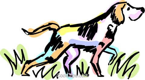 480x265 Bloodhound Royalty Free Vector Clip Art Illustration Vc069732