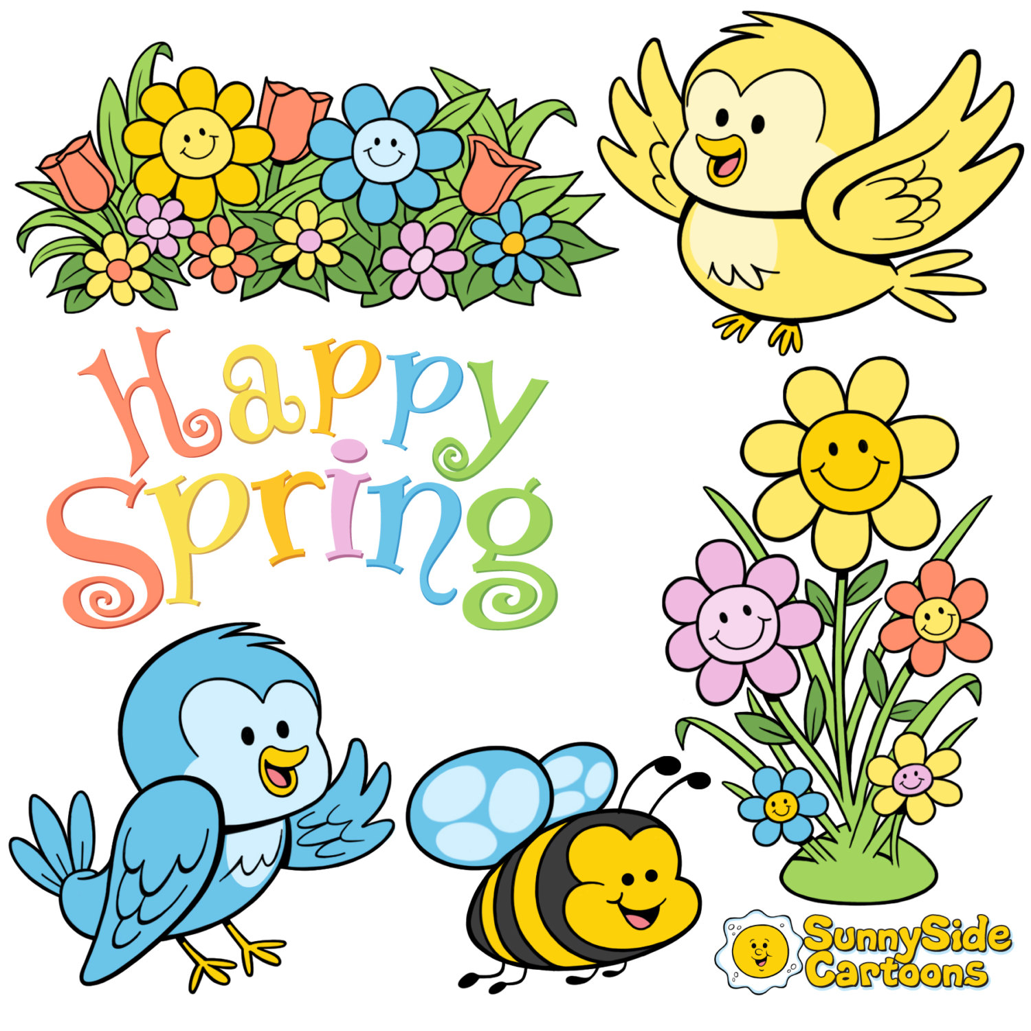 1500x1500 Springtime Cartoons Make Your Projects Really Bloom