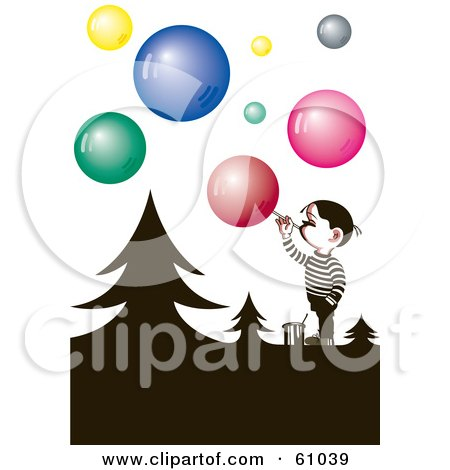 450x470 Royalty Free (Rf) Clipart Of Blowing Bubbles, Illustrations