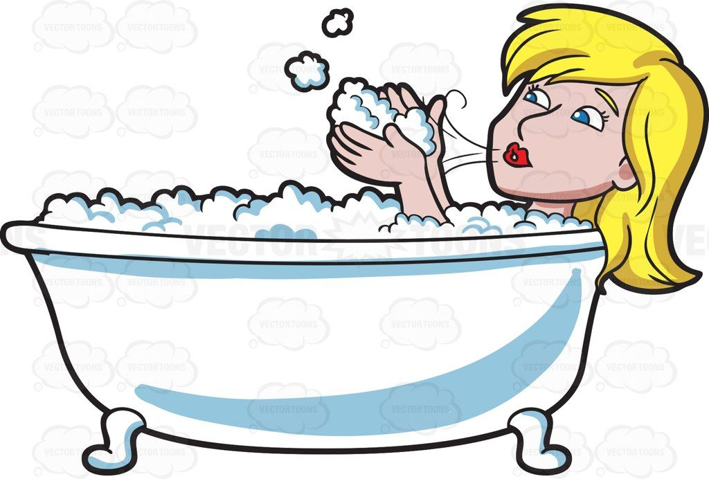 1024x692 A Woman Blowing Bubbles In A Tub Blowing Bubbles