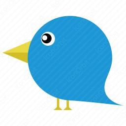 256x256 Blue Bird Clipart Icon