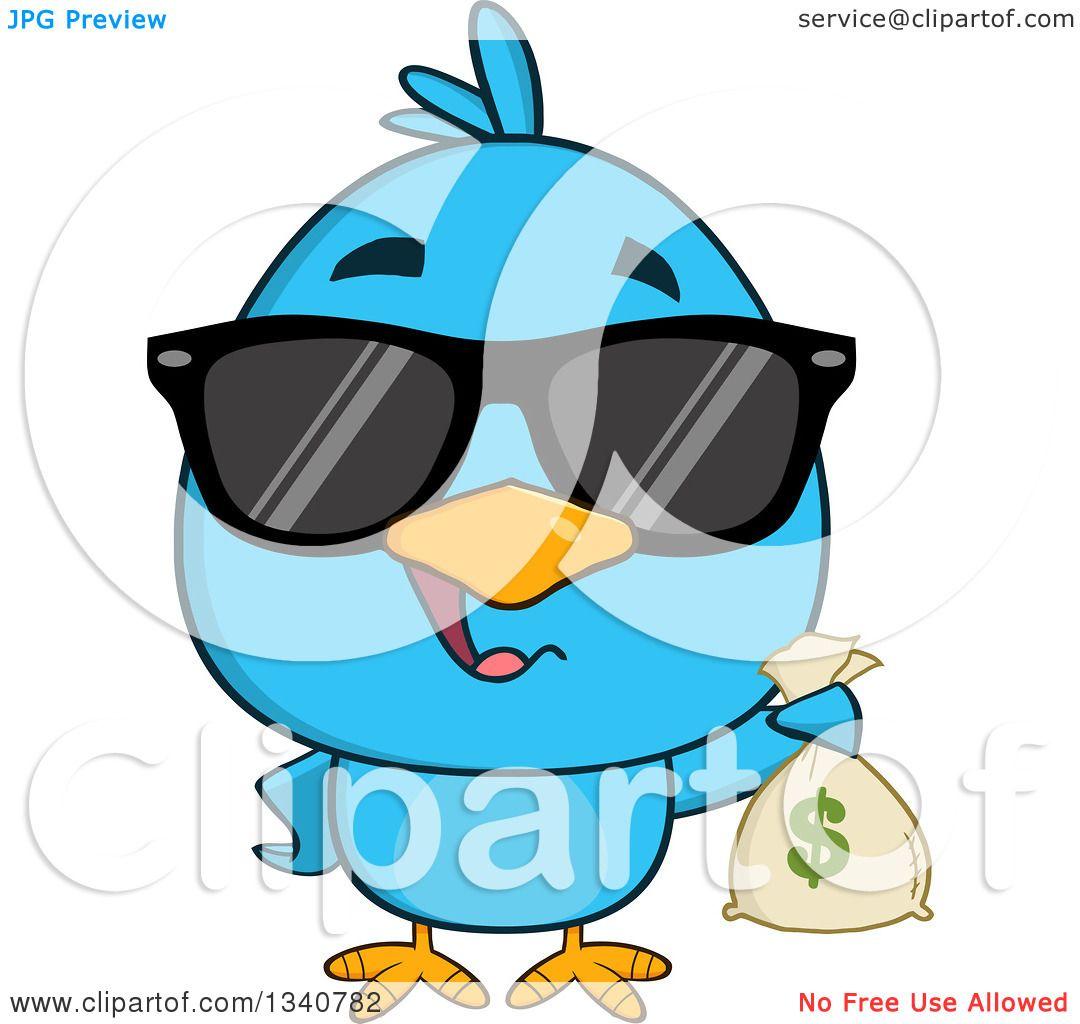 1080x1024 Clipart Of Cartoon Blue Bird Wearing Sunglassesnd Holding