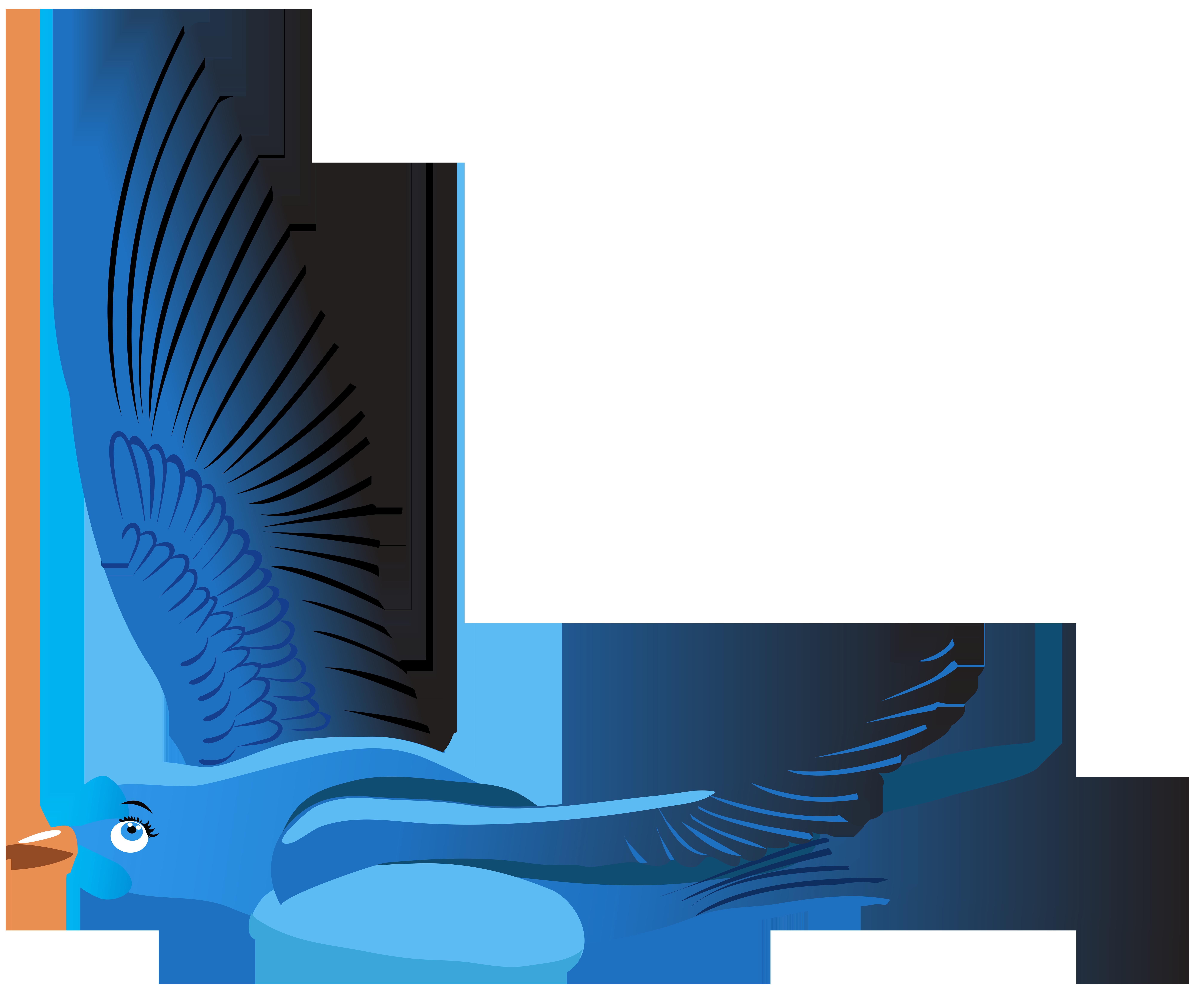 8000x6747 Blue Bird Cartoon Transparent Clip Art Png Imageu200b Gallery