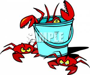 300x251 Royalty Free Clipart Image A Bucket Of Crabs