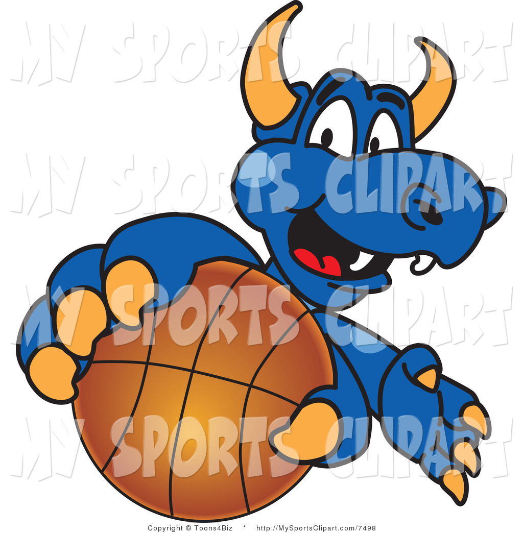 1024x1044 Sports Clip Art Of A Dragon Mascot Grabbing A Basketball By
