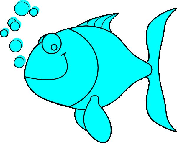 600x485 Blue Fish Clip Art